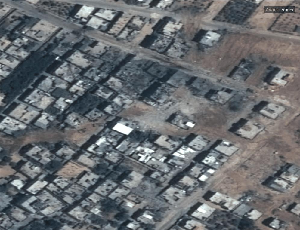 Les impressionnates destructions de Gaza vues du ciel2