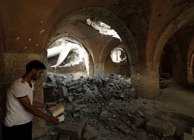 Les ruines de la mosquée Al-Omari de Gaza 2
