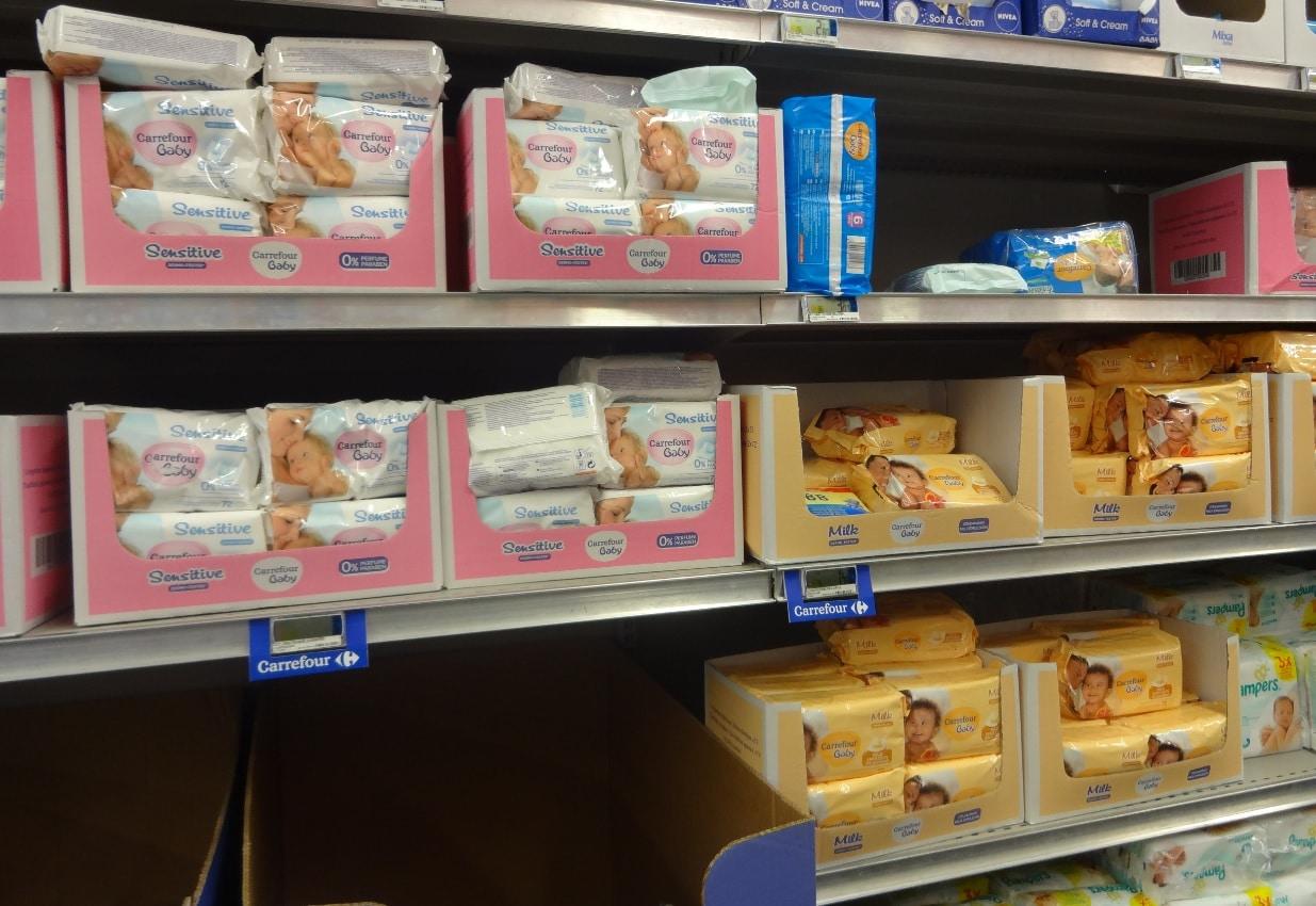 Lingettes pour bébé made in Israël chez Carrefour d'Evry 1