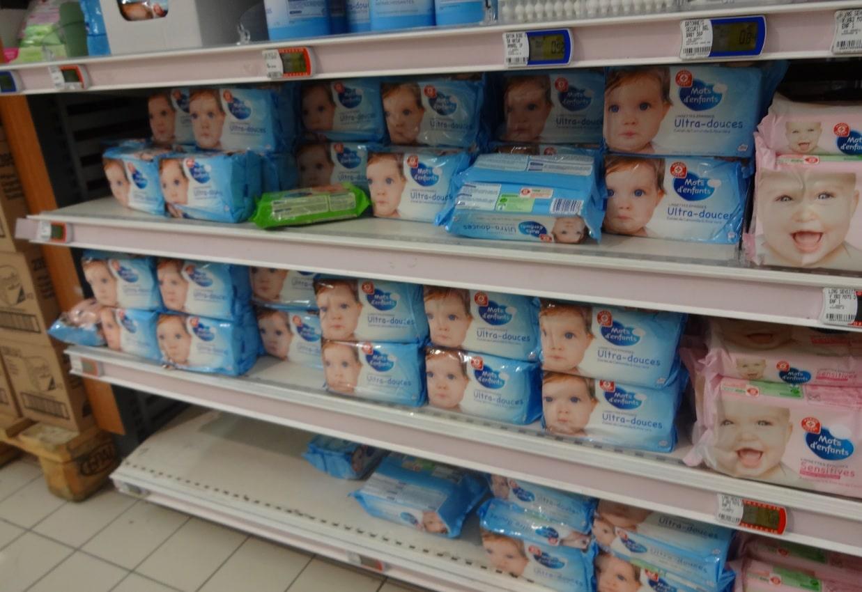 Lingettes pour bébé made in Israël chez Leclerc de Viry-Châtillon 1