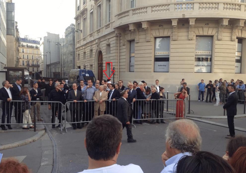Rachid Birbach à la manifestation de soutien à Israël à Paris