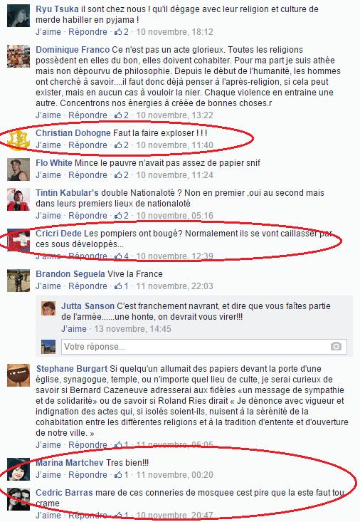 Page Facebook anti mosquée Strasbourg 13