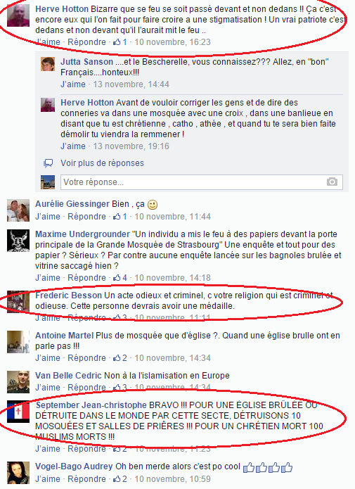 Page Facebook anti mosquée Strasbourg 14