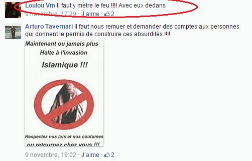 Page Facebook anti mosquée Strasbourg 16