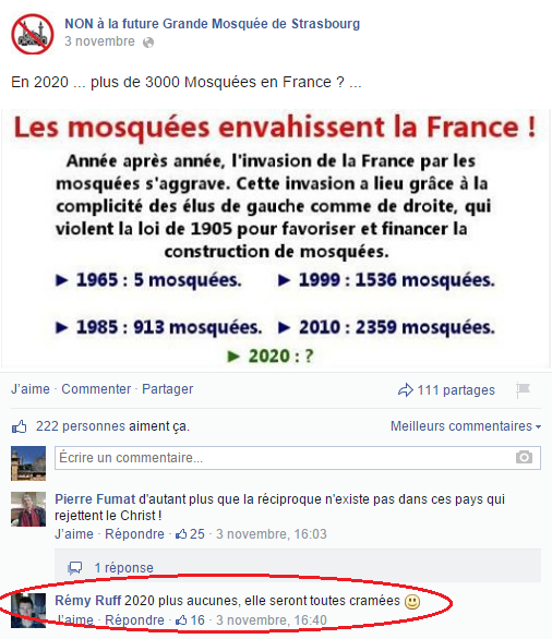 Page Facebook anti mosquée Strasbourg 20