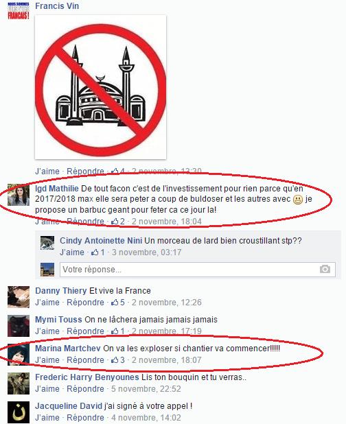 Page Facebook anti mosquée Strasbourg 22