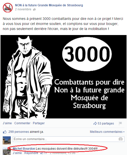 Page Facebook anti mosquée Strasbourg 23