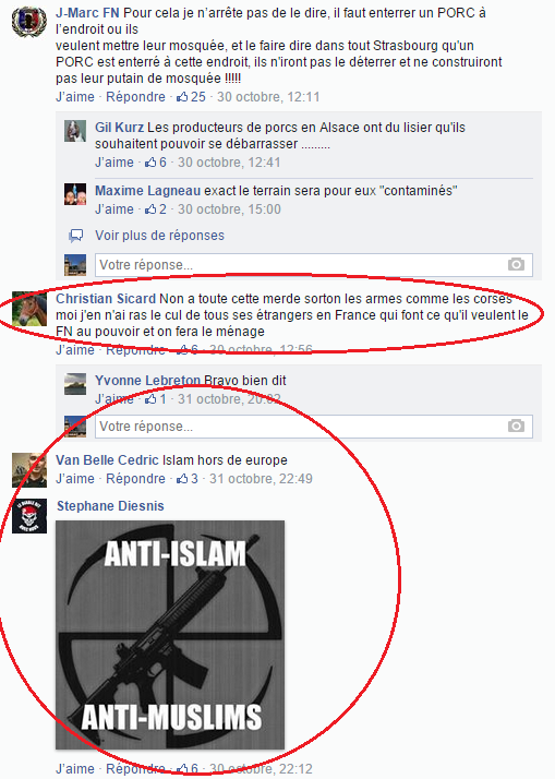 Page Facebook anti mosquée Strasbourg 26