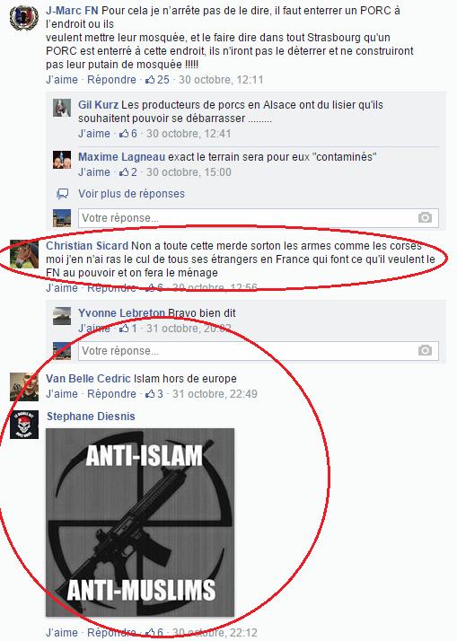 Page Facebook anti mosquée Strasbourg 26