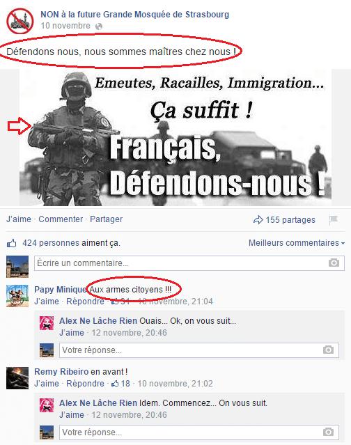 Page Facebook anti mosquée Strasbourg 7