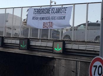 Banderole anti islam à Nice
