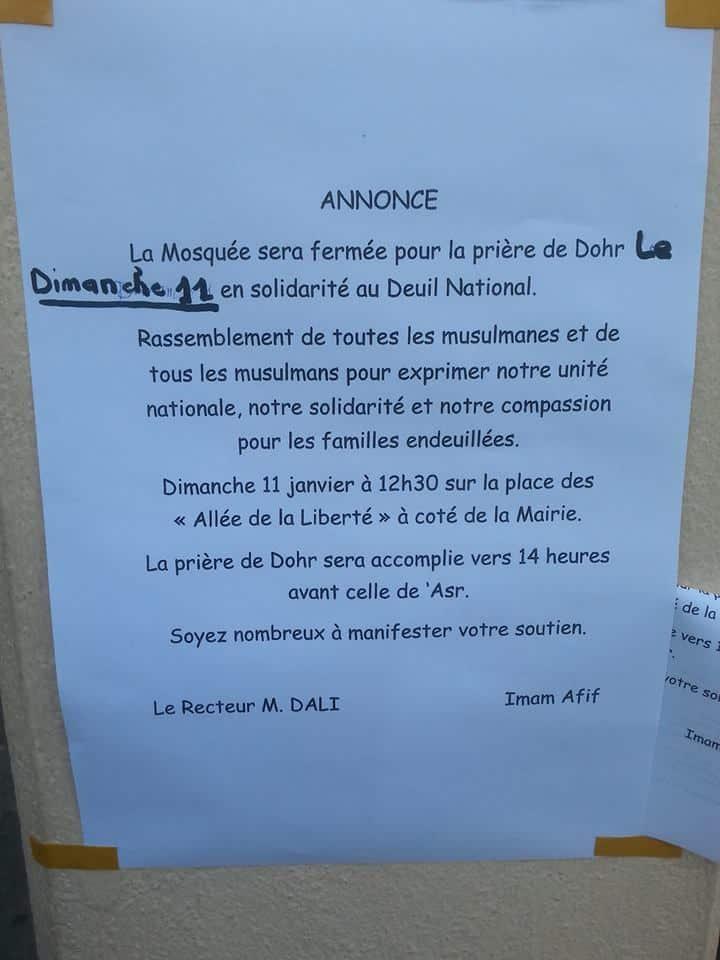 La prière de Duhr annulée à la mosquée Al Madina de Cannes