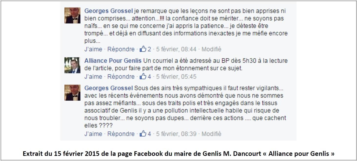Propos du maire de Genlis et son adjoint