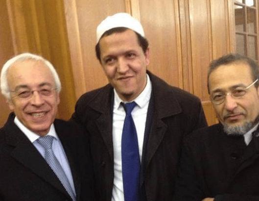 l'ambassadeur d'Israël entouré de Chalghoumi et Oubrou
