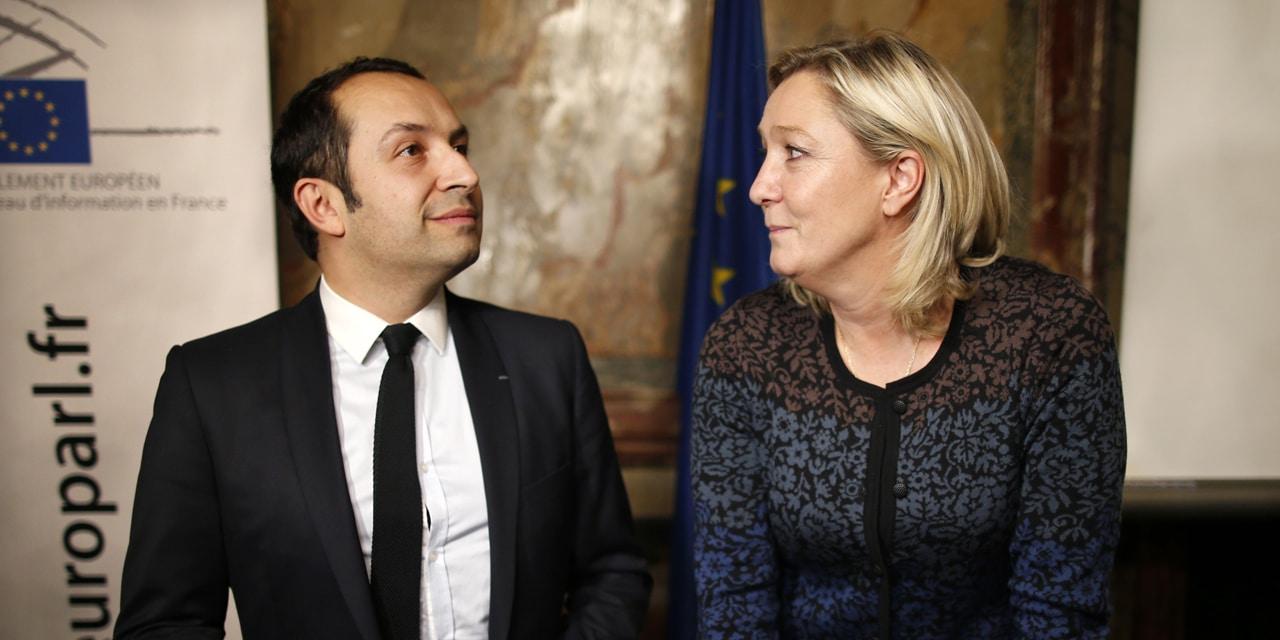 Sebastien Chenu et Marine Le Pen
