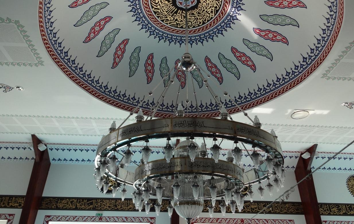 Lustre salle de prière de la mosquée d'Altkirch