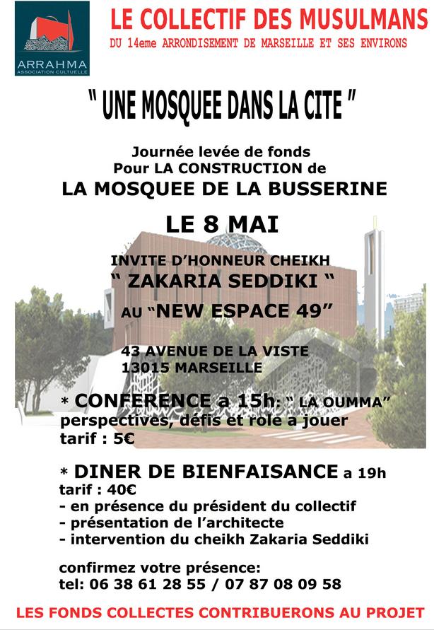 Conférence soutien à la mosquée de la Busserine