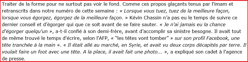Marianne s'en prend à l'imam Mamadou Daffé