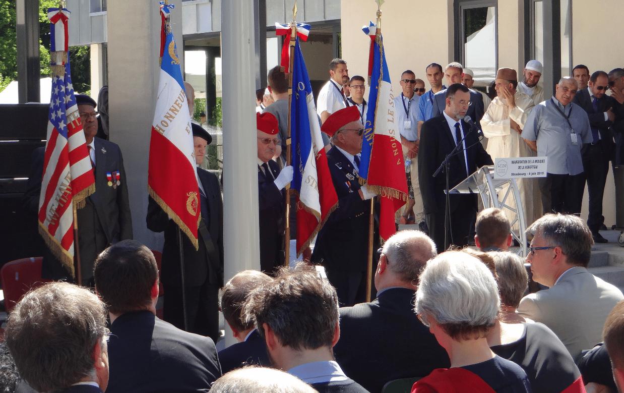 Chaib Chokri à l'inauguration de la mosquée de la Robertsau