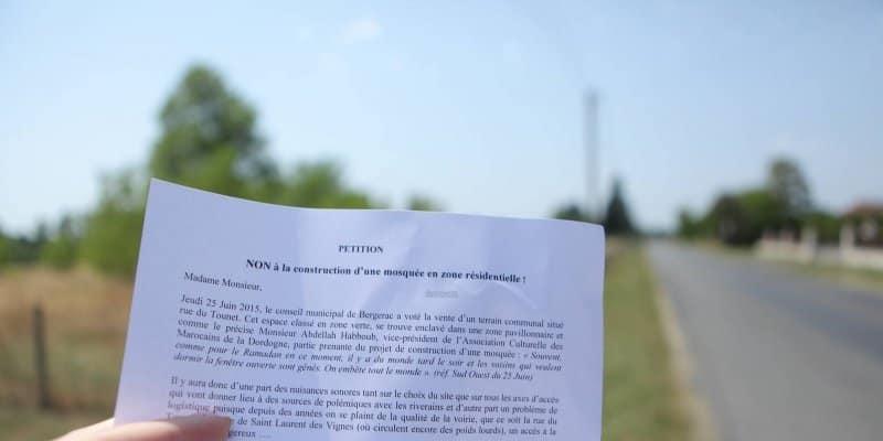 Pétition de riverains contre la future mosquée de Bergerac