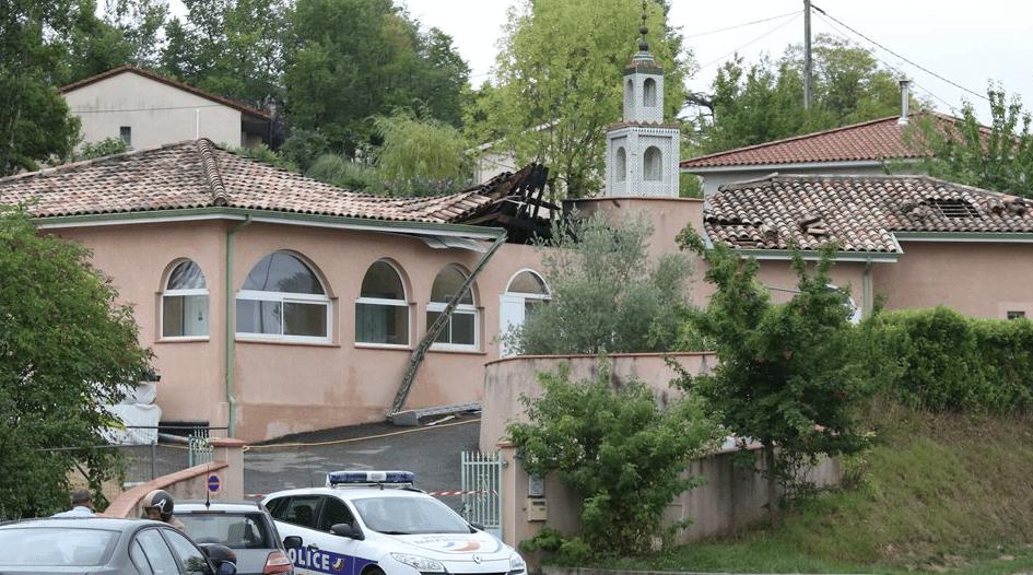 La mosquée d'Auch détruite par un incendie criminel