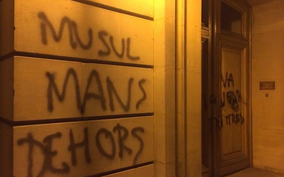 Tags islamophobes à Evreux