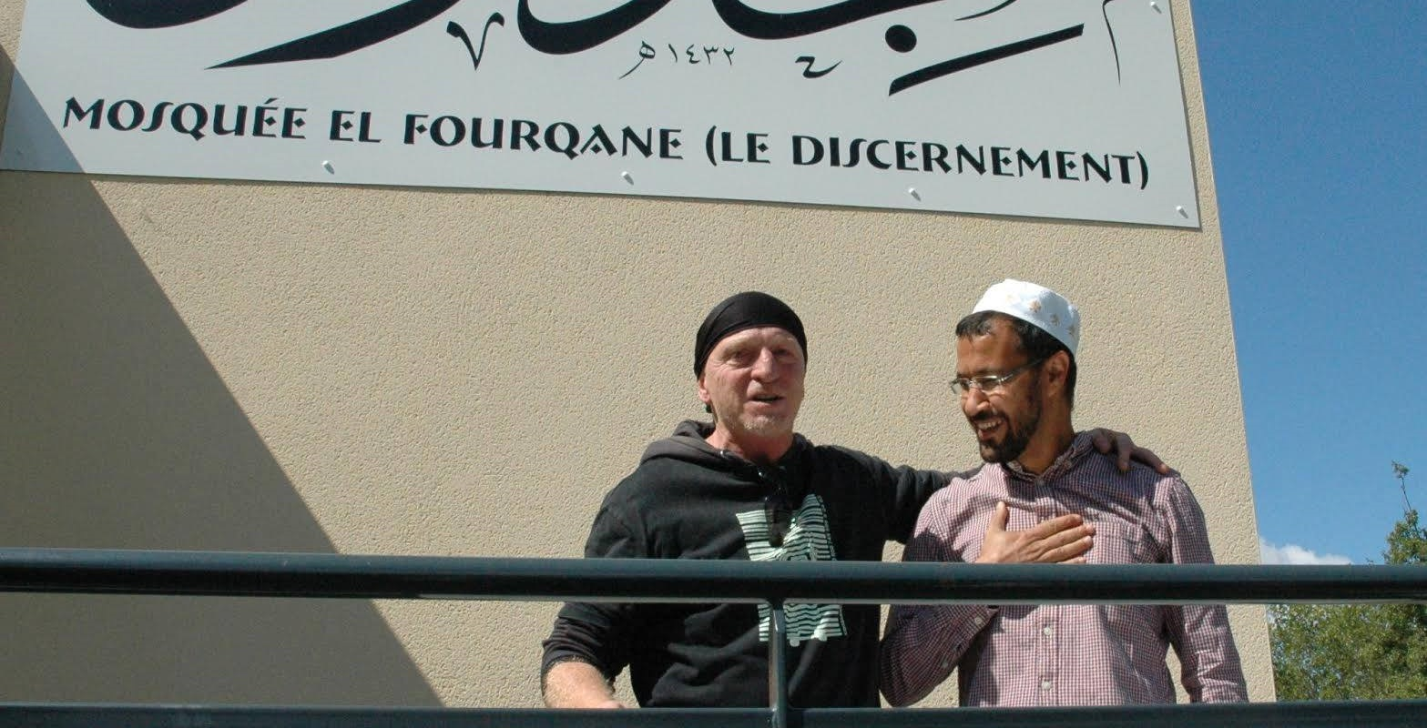 Philippe Martinez à la mosquée de Valence