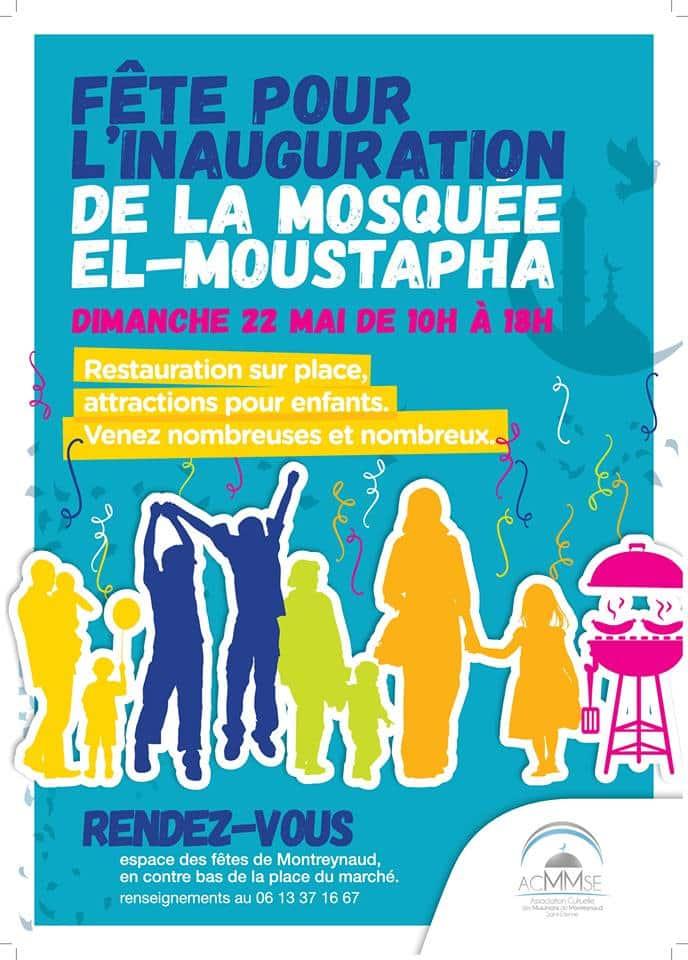 Inauguration de la mosquée de Montreynaud