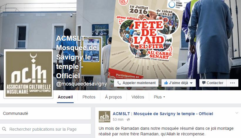 Facebook de mosquées