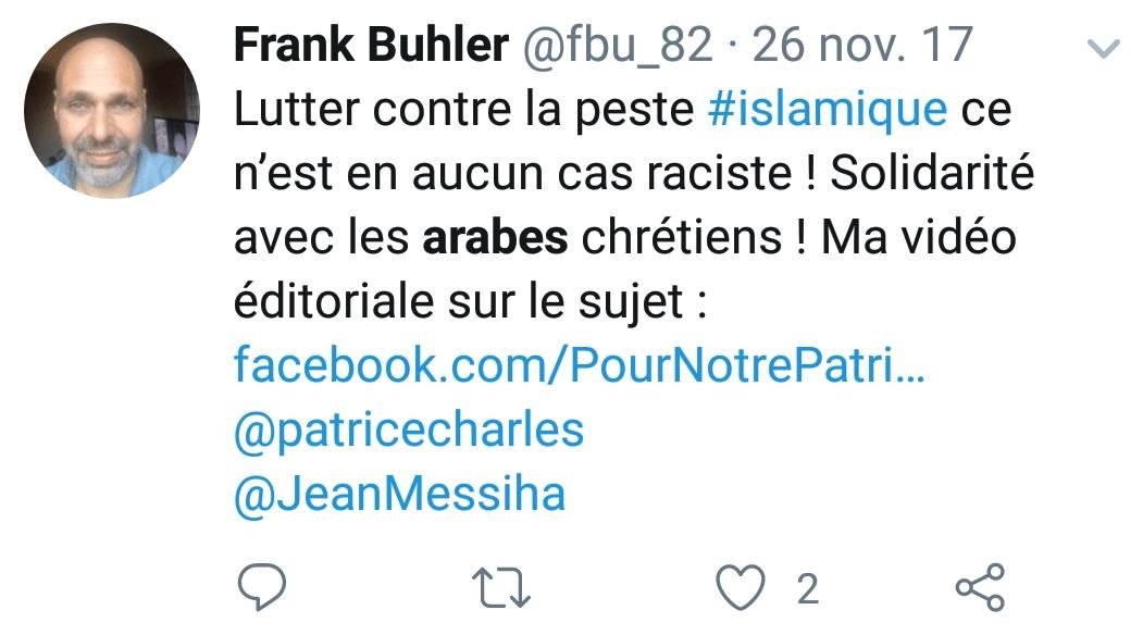 Frank Buhler islamophobe 2