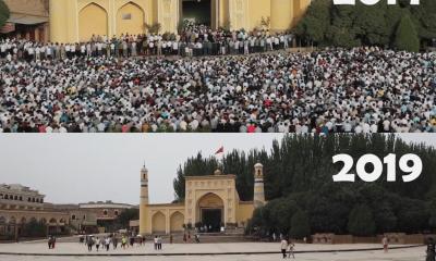 La mosquée Id Kah de Kashgar vide