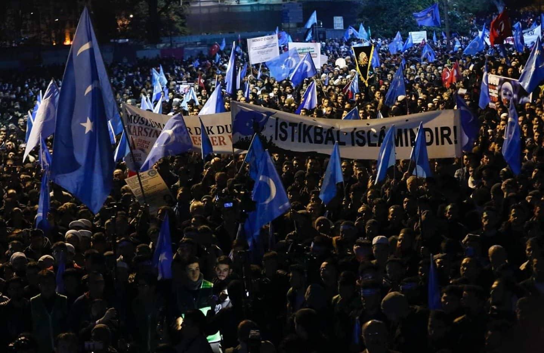 Rassemblement soutien Ouighours Istanbul