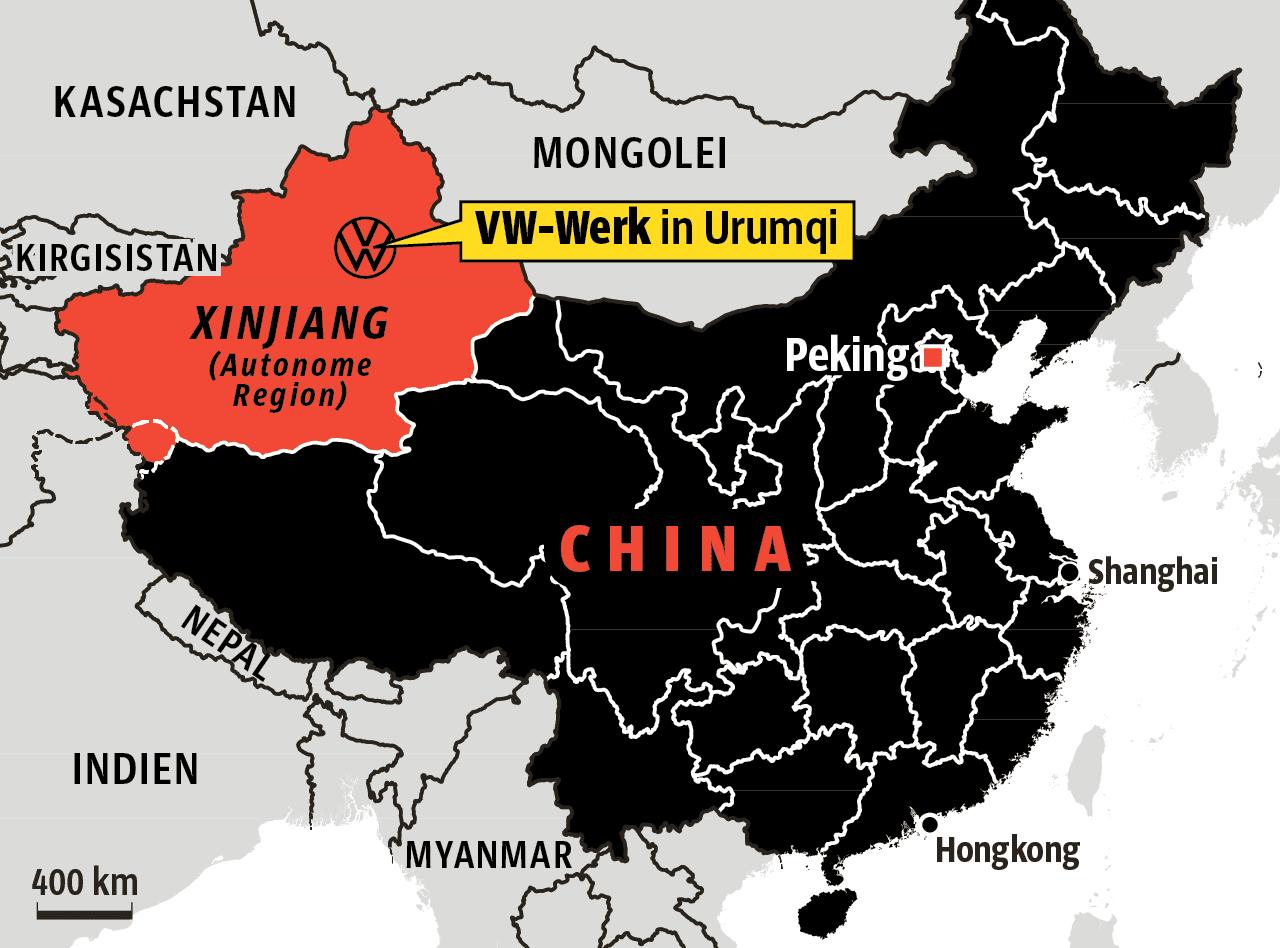 Volkswagen épinglé pour sa collaboration avec la police du Xinjiang