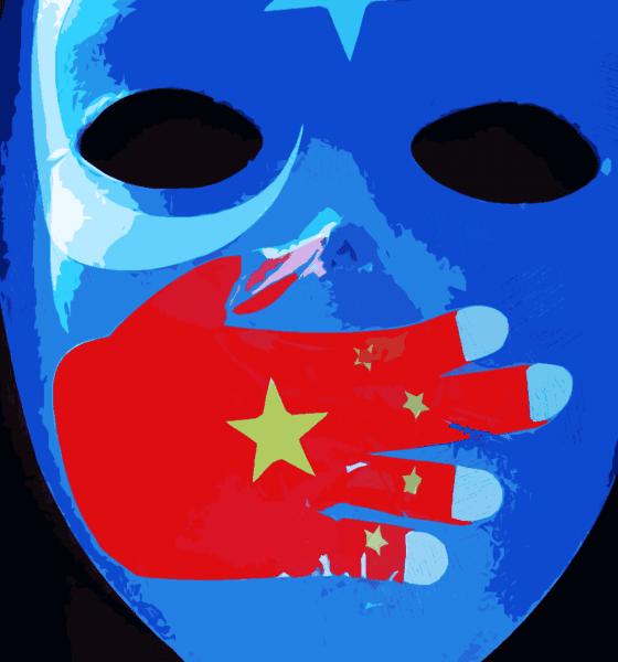 Ouïghours rassemblement devant l'ambassade de Chine à Paris