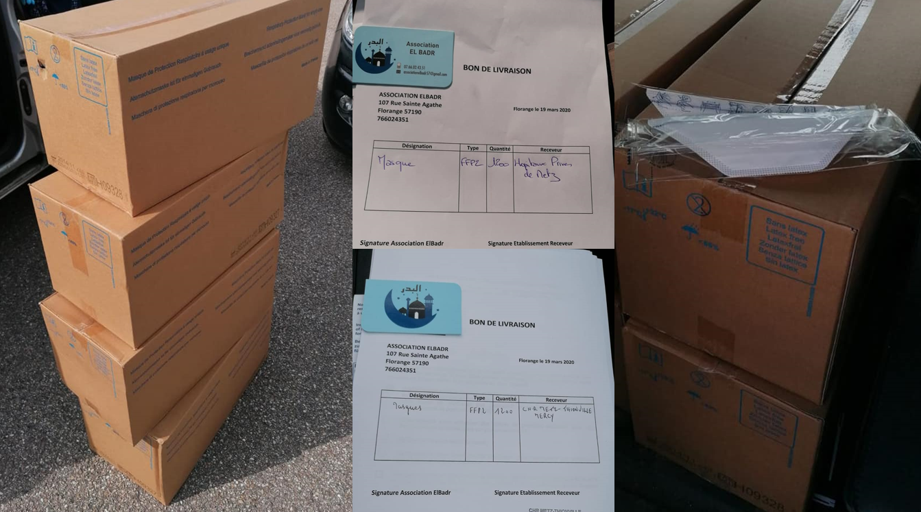 L'association El Badr fait don de 10 000 masq...