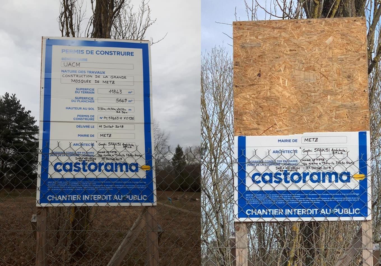 Acte vandalisme mosquee Metz
