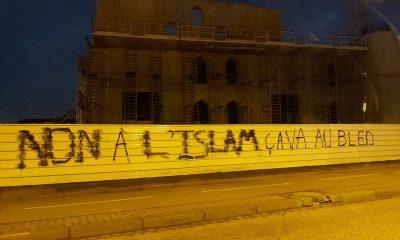 Tag islamophobe mosquée Eyyub Sultan Strasbourg