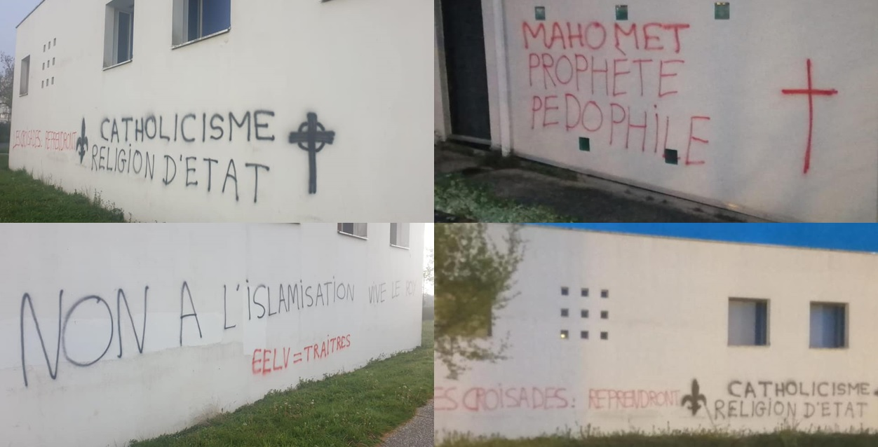 Tags islamophobes mosquee Rennes